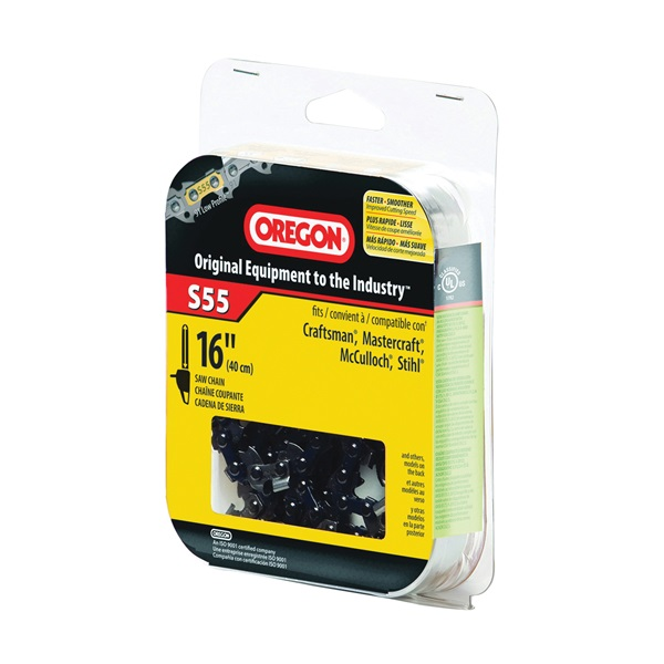 Picture of Oregon S55 Chainsaw Chain, 16 in L Bar, 3/8 in TPI/Pitch, 55 -Link