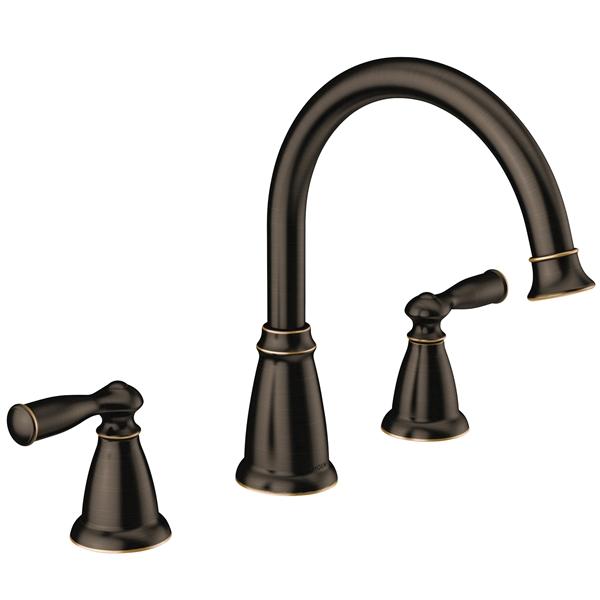Picture of Moen Banbury 86924BRB Tub Faucet, 2-Faucet Handle, Lever Handle, Mediterranean Bronze
