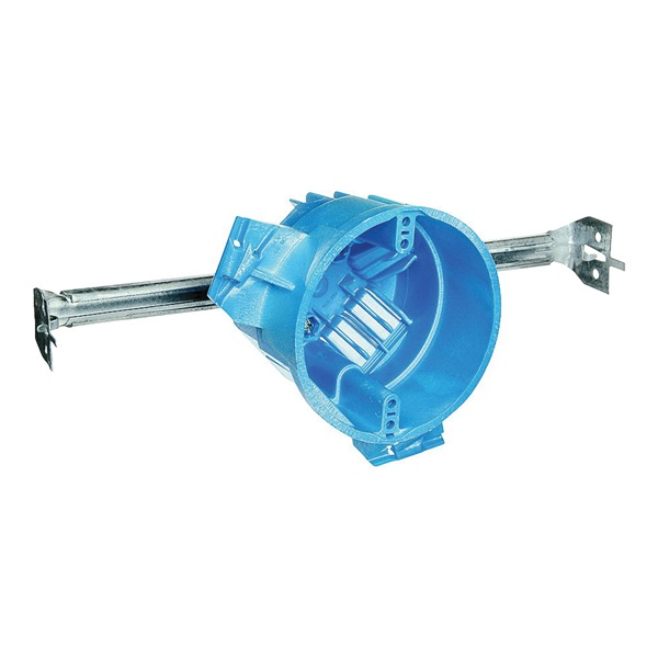 Picture of Carlon BH525H Ceiling Box, 4 in W, 4 in D, 3 in H, 1-Gang, Polycarbonate, Blue