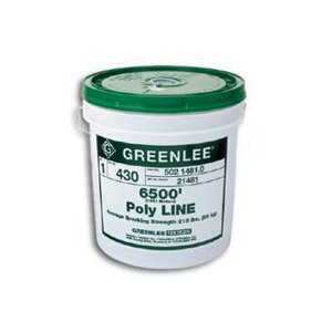 Picture of Greenlee 430 Twine, 6500 ft L, 210 lb Working Load, Polypropylene, Green, Pail