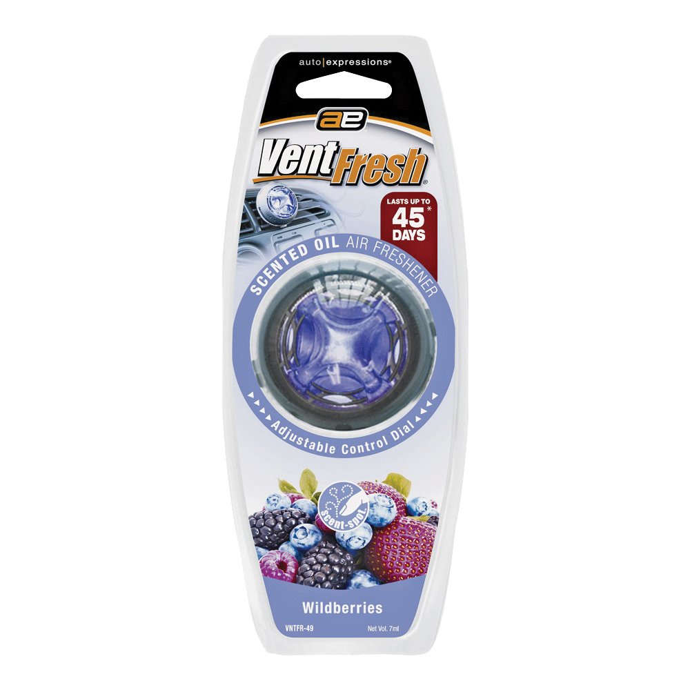 Picture of Auto Expressions Vent Fresh VNTFR-49 Air Freshener, Liquid, Wildberry
