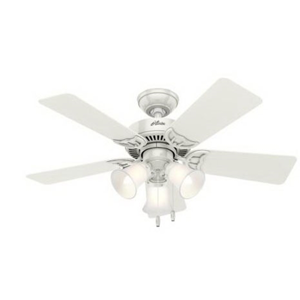 Picture of Hunter 51010 Ceiling Fan with Light, 0.41 A, 120 V, 5-Blade, 42 in Sweep, 3467 cfm Air