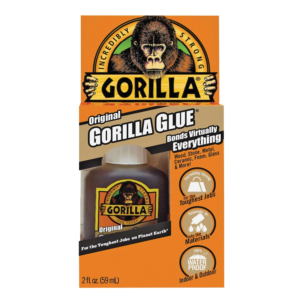 Picture of Gorilla 5000201 Glue, Brown, 2 oz Package, Bottle