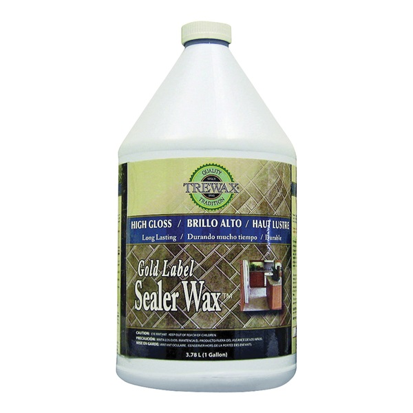 Picture of Trewax Gold Label 887171967 Sealer Wax, 1 gal Package, Liquid, Acrylic, White