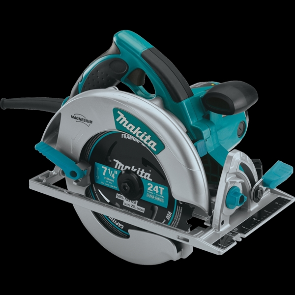 Picture of Makita 5007MG Circular Saw, 120 V, 15 A, 2300 W, 7-1/4 in Dia Blade, 5/8 in Arbor, 56 deg Bevel