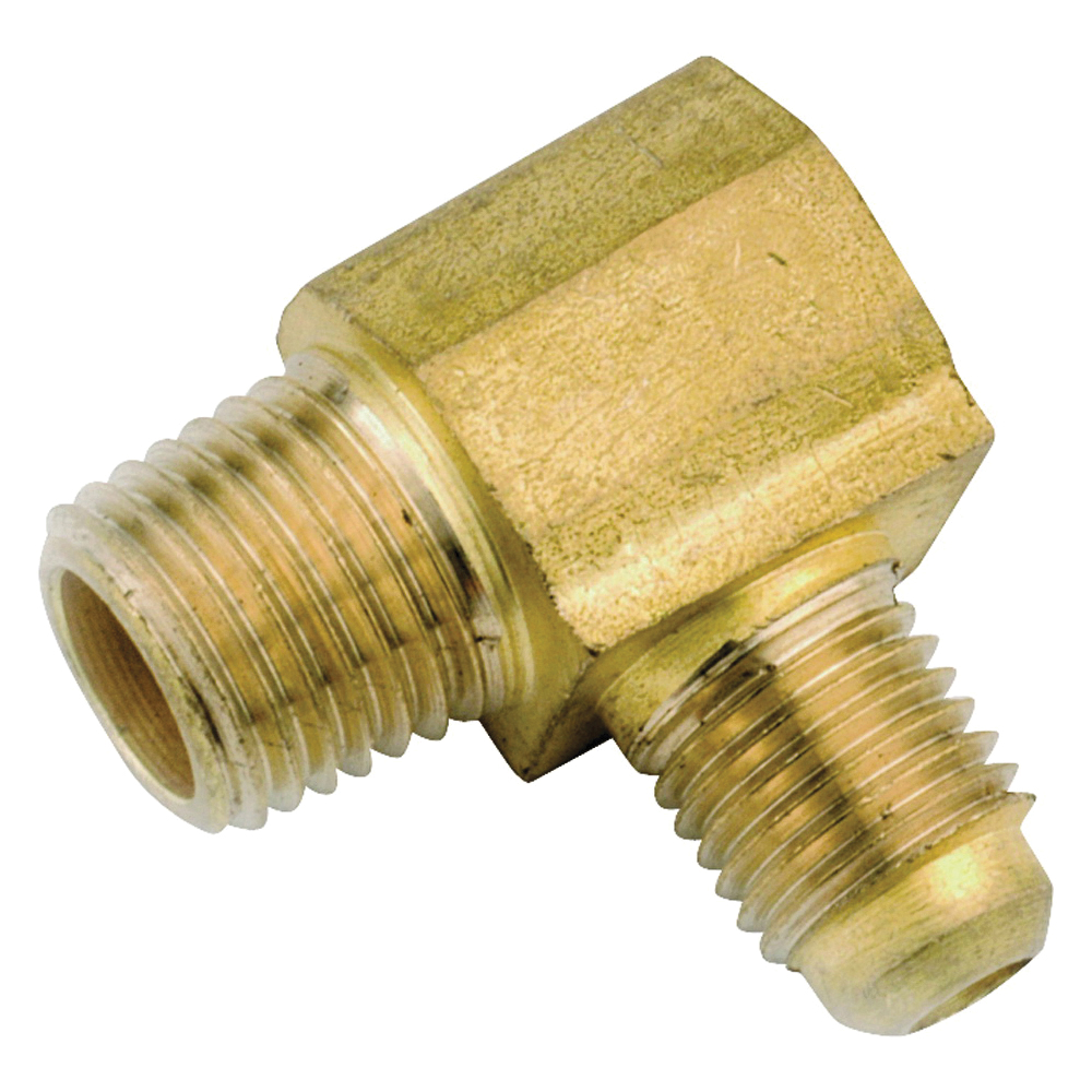 Picture of Anderson Metals 754049-0402 Tube Elbow, 1/4 x 1/8 in, 90 deg Angle, Lead-Free Brass, 1400 psi Pressure
