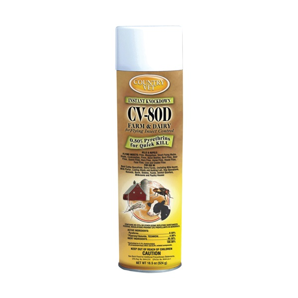 Picture of Enforcer 348318CVA Fly Spray, Liquid, Amber/Light Yellow, Characteristic, 18.5 oz Package, Aerosol Can