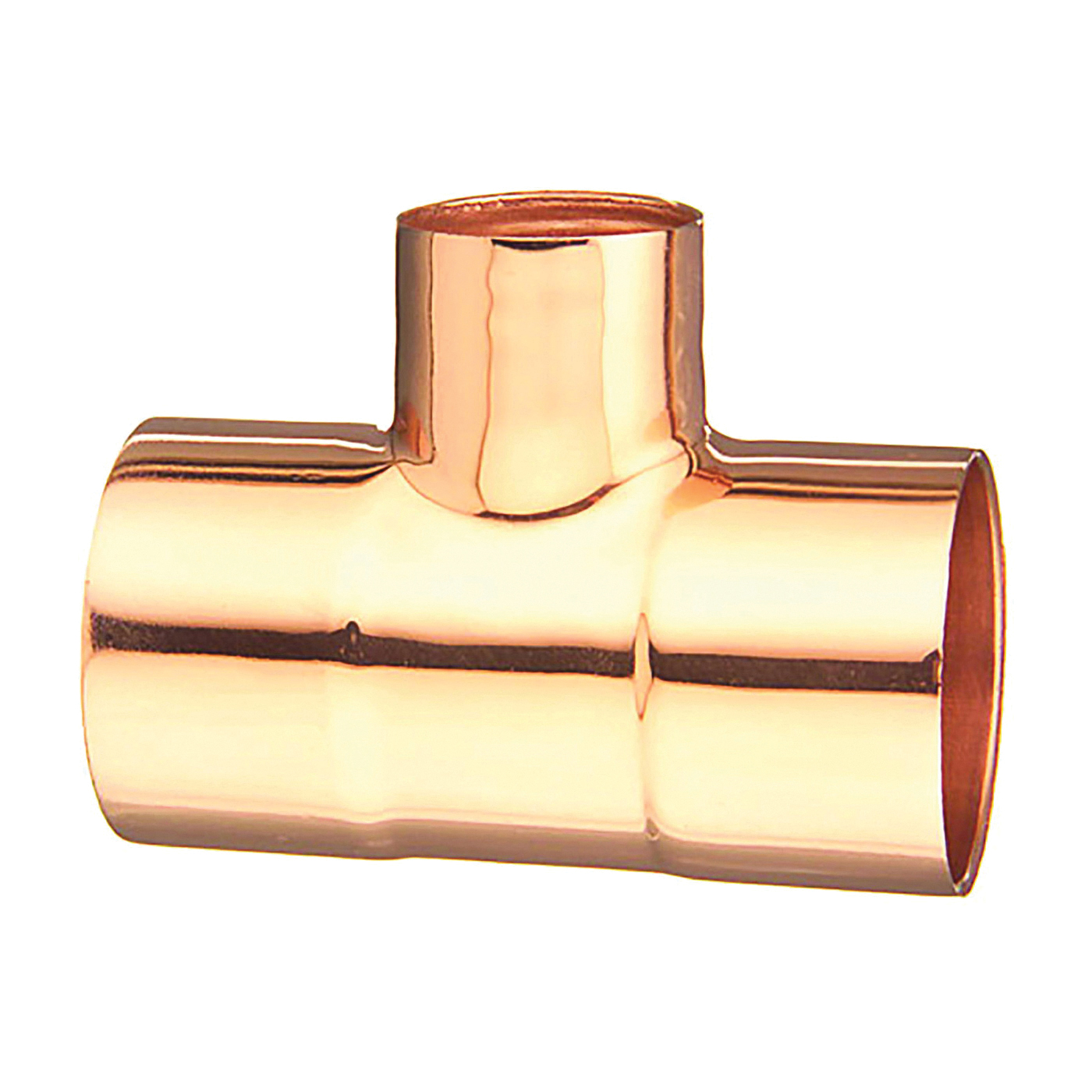 Picture of EPC 111R Series 32874 Pipe Reducing Tee, 1-1/4 x 1-1/4 x 3/4 in, Sweat, Copper