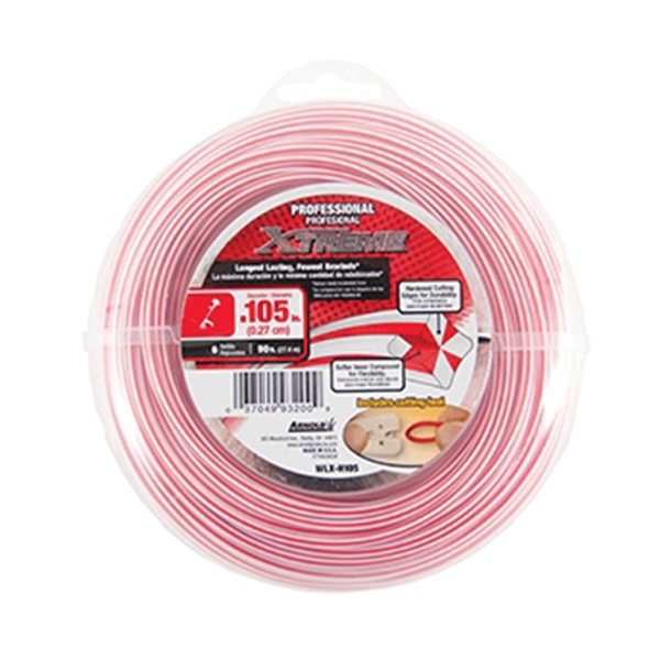 Picture of Arnold Xtreme Professional WLX-H105 Trimmer Line, 0.105 in Dia, 90 ft L, Monofilament