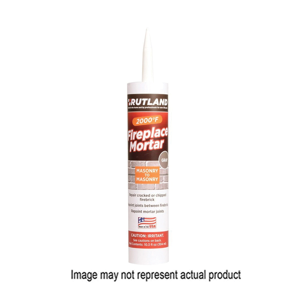Picture of RUTLAND 63G Fireplace Mortar, Paste, Gray, 10.3 oz Package, Cartridge