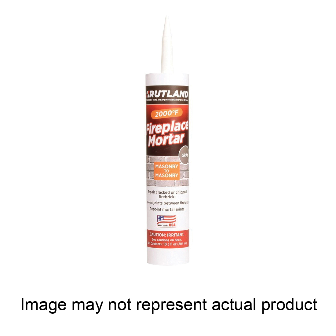 Picture of RUTLAND 63 Fireplace Mortar, Paste, Black, 10.3 oz Package, Cartridge