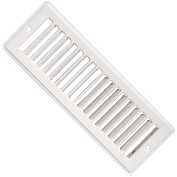 Picture of Imperial RG1280A Toe Space Grille, 4 in L, 10 in W, Steel, White