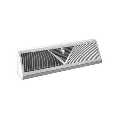 Picture of AmeriFlow 3015W15R Baseboard Diffuser, 15 in L, Steel, White