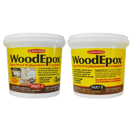 Picture of ABATRON WoodEpox WE2GKR Wood Restoration System, Paste, Slight Ammonia, Tan/White, 2 gal Package