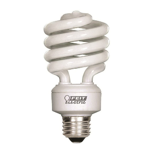 Picture of Feit Electric ESL23TM/12/CAN Compact Fluorescent Bulb, 23 W, Spiral Lamp, Medium E26 Lamp Base, 1600 Lumens