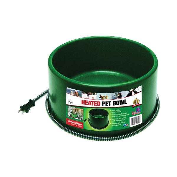 Picture of FARM INNOVATORS P-60 Pet Bowl, 1.5 gal Volume, Green
