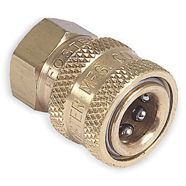 Picture of Mi-T-M AW-0017-0001 Quick-Connect Adapter, 1/4 x 1/4 in Connection, Socket x FNPT, Brass