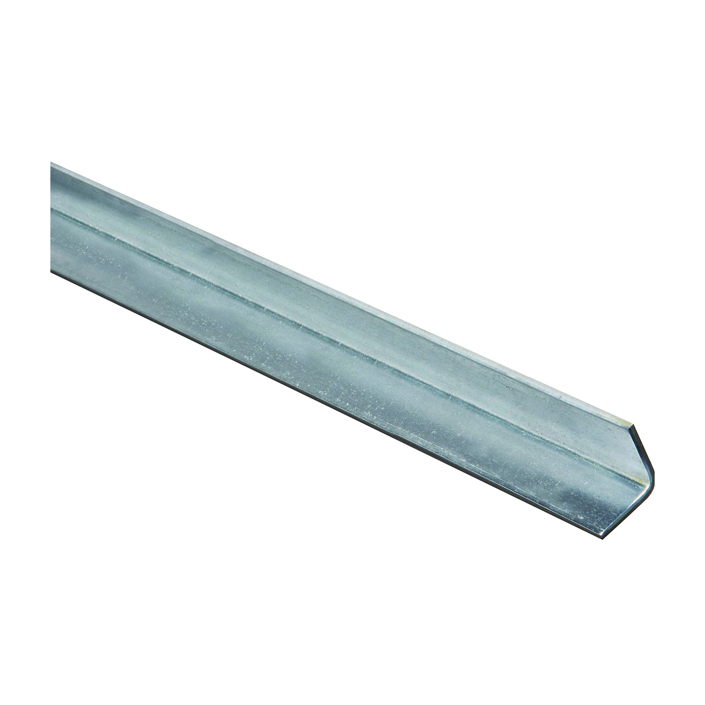 Picture of Stanley Hardware 4010BC Series 179937 Solid Angle, 1 in L Leg, 48 in L, 0.12 in Thick, Galvanized Steel