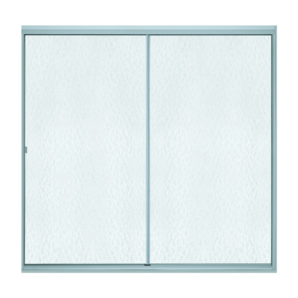 Picture of Sterling 500C Series 500C-59S Bath Door, Standard Frame, Aluminum Frame, Clear Glass, Tempered Glass, 1/8 in Glass
