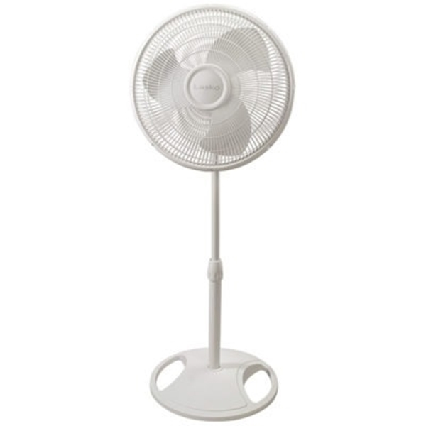 Picture of Lasko 2520 Oscillating Stand Fan, 120 V, 16 in Dia Blade, Plastic Housing Material, White
