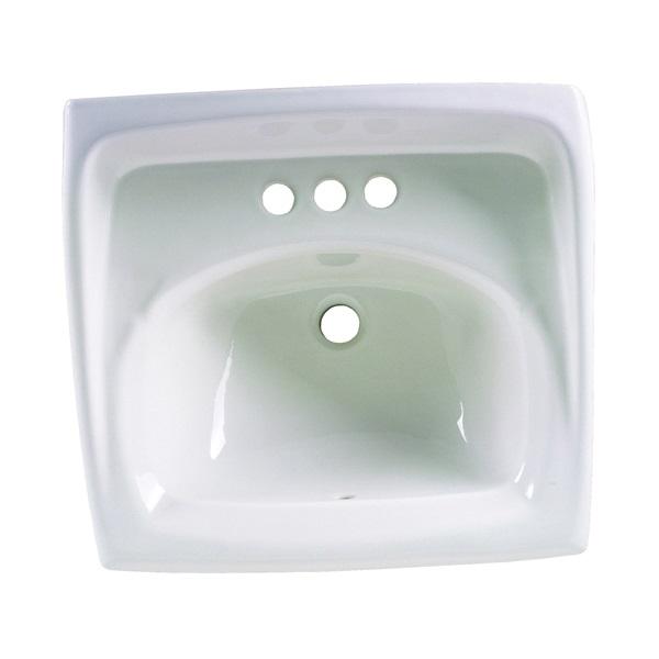 Picture of American Standard Lucerne 0355.012.020 Bathroom Sink, Rectangular Basin, 3-Deck Hole, 18-1/4 in OAW, 12-1/8 in OAH