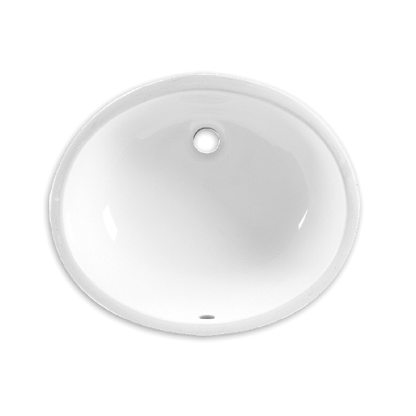Picture of American Standard Ovalyn 0496221.020 Under Counter Sink, Oval Basin, 4 in Faucet Centers, 3-Deck Hole, 5-1/2 in OAD