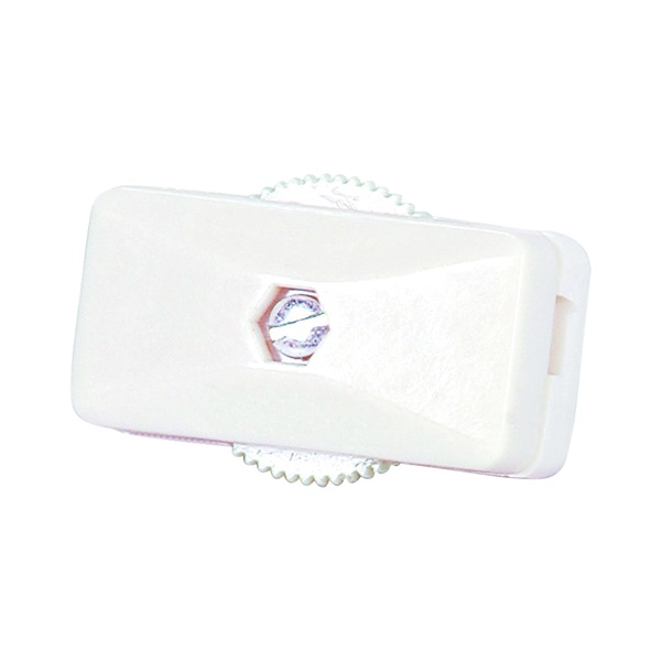 Picture of Eaton Wiring Devices BP410W-SP-C Cord Switch, 3 A, 120 V, Screw Terminal, White
