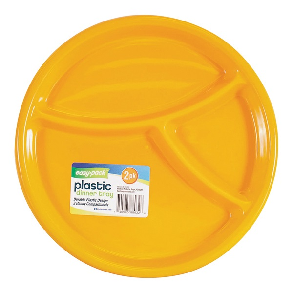 Picture of FLP Easy-Pack 8032 3-Section Dinner Tray, Plastic