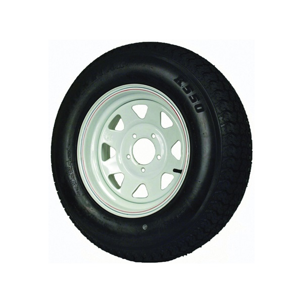 Picture of MARTIN WHEEL DM205D5C-5CT/CI Trailer Tire, 1820 lb Withstand, 4-1/2 in Dia Bolt Circle