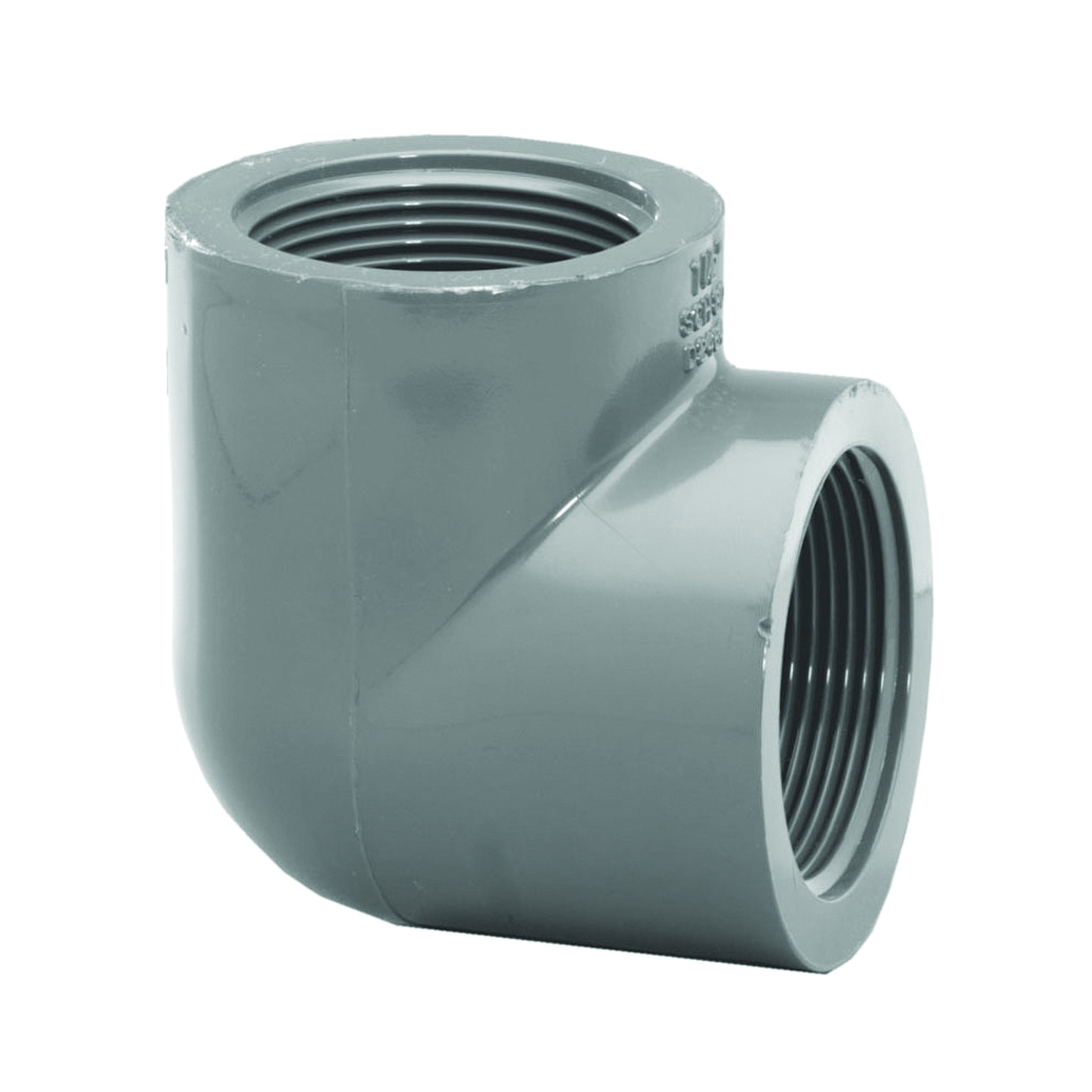 Picture of GENOVA 300 337078 Pipe Elbow, 3/4 in, FIP, 90 deg Angle, PVC, Gray, SCH 80 Schedule