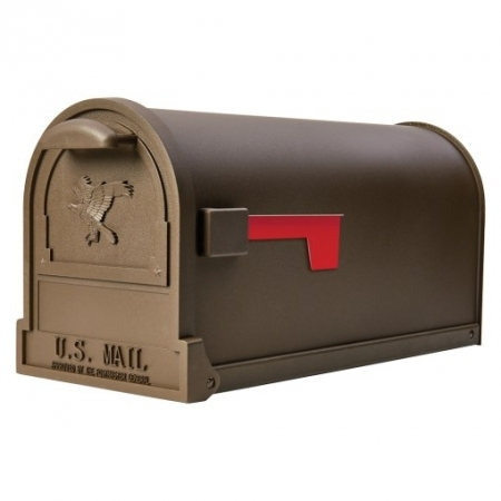 Picture of Gibraltar Mailboxes Arlington AR15T000 Mailbox, 1475 cu-in Capacity, Galvanized Steel, Bronze, 9-1/2 in W, 11 in H