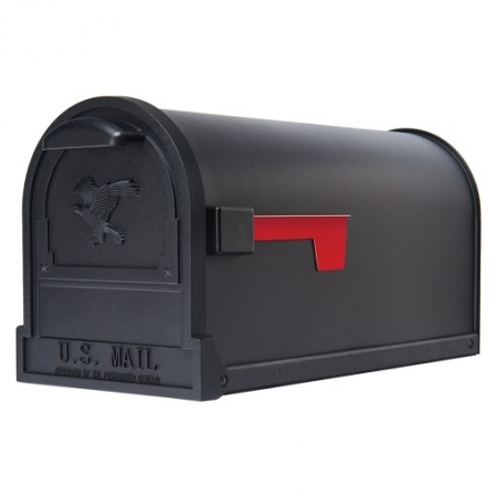 Picture of Gibraltar Mailboxes Arlington AR15B000 Mailbox, 1475 cu-in Capacity, Galvanized Steel, Textured Powder-Coated, Black