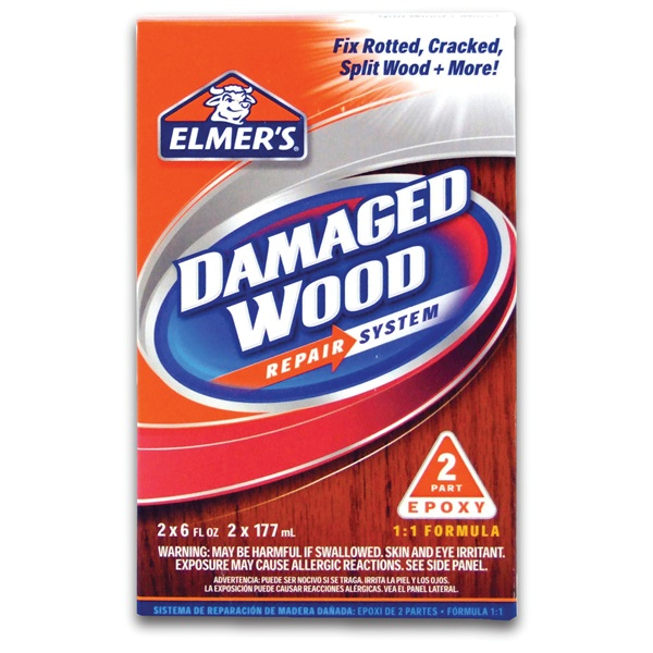 Picture of Elmers E761Q Wood Repair System, Solid, Amine, Off-White, 12 oz Package