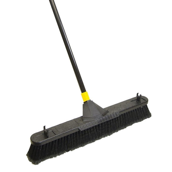 Picture of Quickie 00633 Push Broom, 24 in Sweep Face, Polypropylene Bristle, Steel Handle