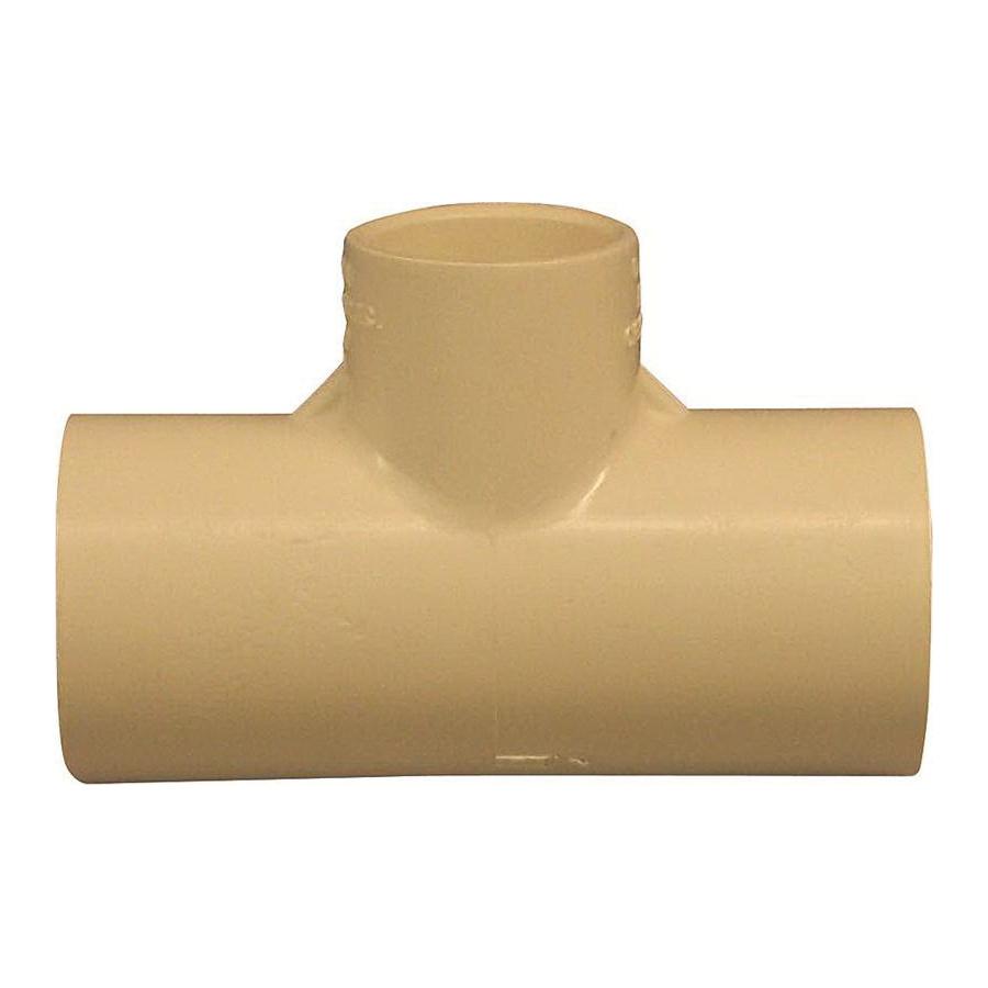 Picture of GENOVA 500 51477 Tube Tee, 1 x 3/4 in, Slip x Slip-Joint, CPVC, 100 psi Pressure