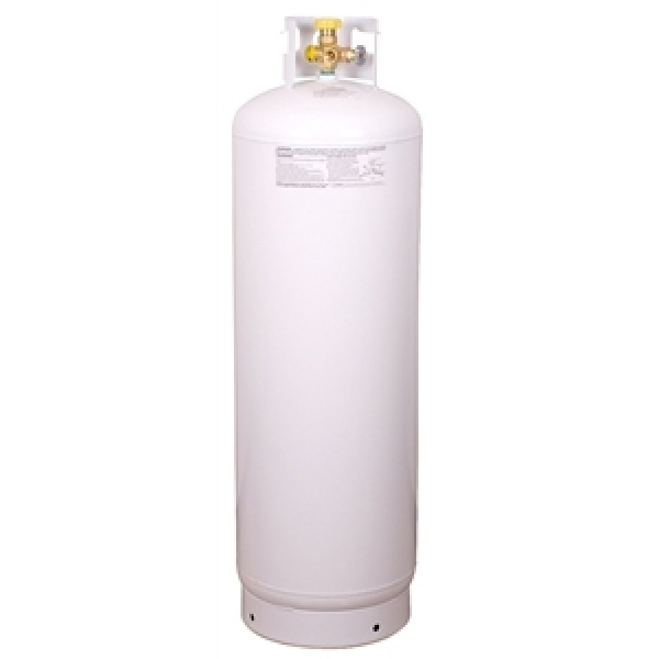 Picture of Worthington 282170 Propane Cylinder, 100 lb Tank, Steel, White