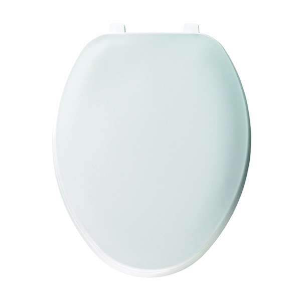Picture of BEMIS 170-000 Toilet Seat, Elongated, Plastic, White, Top-Tite Hinge