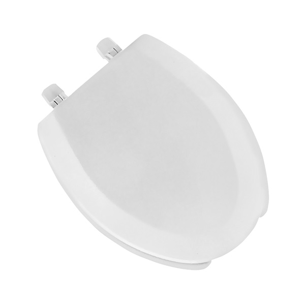 Picture of BEMIS 1440EC000 Toilet Seat, Elongated, Molded Wood, White, Dial Hinge