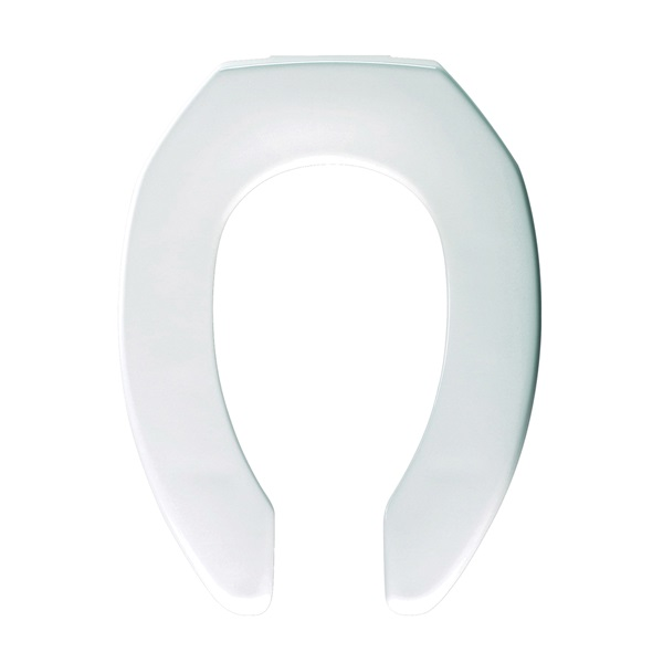 Picture of BEMIS M1955C-000 Toilet Seat, Elongated, Plastic, White, Sta-Tite Hinge
