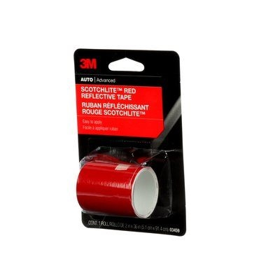 Picture of Scotchlite 03459 Reflective Safety Tape, 36 in L, 2 in W, Red