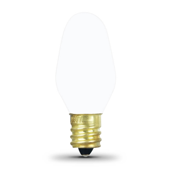 Picture of Feit Electric BP4C7/W/4 Incandescent Lamp, 4 W, Candelabra E12 Lamp Base, 2700 K Color Temp, 3000 hr Average Life