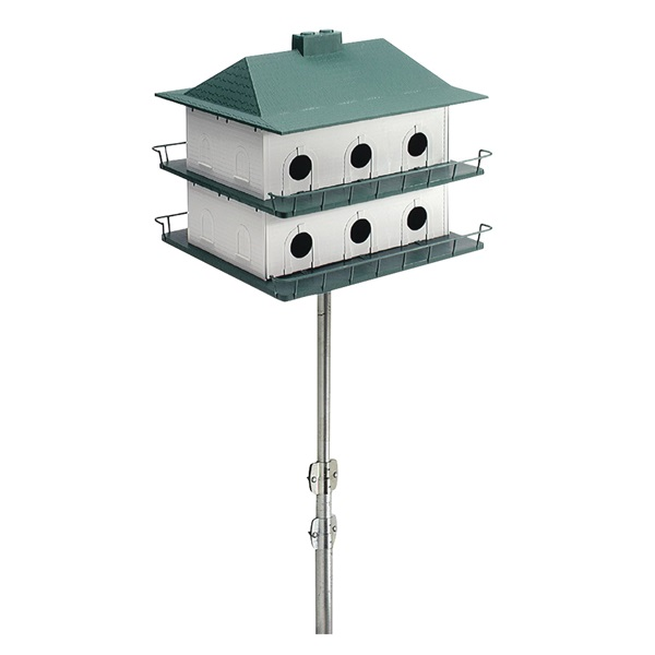 Picture of HEATH PH-12 Bird House, 21 in W, 18 in H, Plastic, Green/White