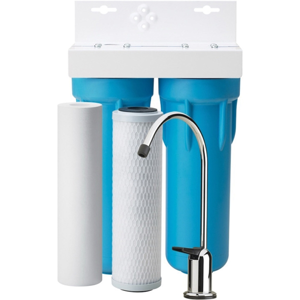 Picture of Pentair OMNIFilter OT32-S-S06 Filtration System, 400 gal Capacity, 0.5 gpm, 2 -Stage, Blue/White