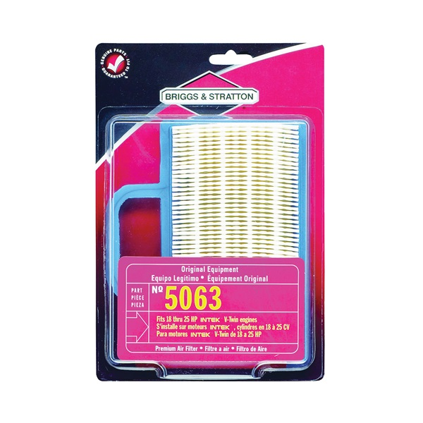 Picture of BRIGGS & STRATTON 5063K Air Filter with Pre-Cleaner, Paper Filter Media, For: 18 to 26 Gross hp Intek V-Twin Engines
