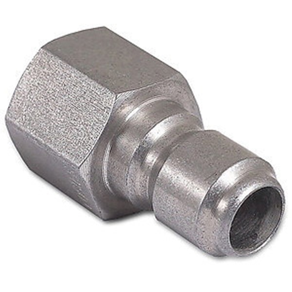 Picture of Mi-T-M AW-0017-0006 Quick-Connect Adapter, 3/8 x 3/8 in Connection, Plug x FNPT, Stainless Steel, Zinc