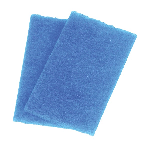 Picture of BIRDWELL 355-36 Scouring Pad, 6 in L, 3-1/2 in W, Blue