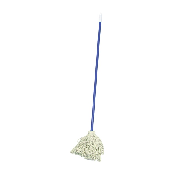 Picture of BIRDWELL 9620-6 Deck Mop with Swivel Cap, 48 in L, Cotton Mop Head, Metal Handle