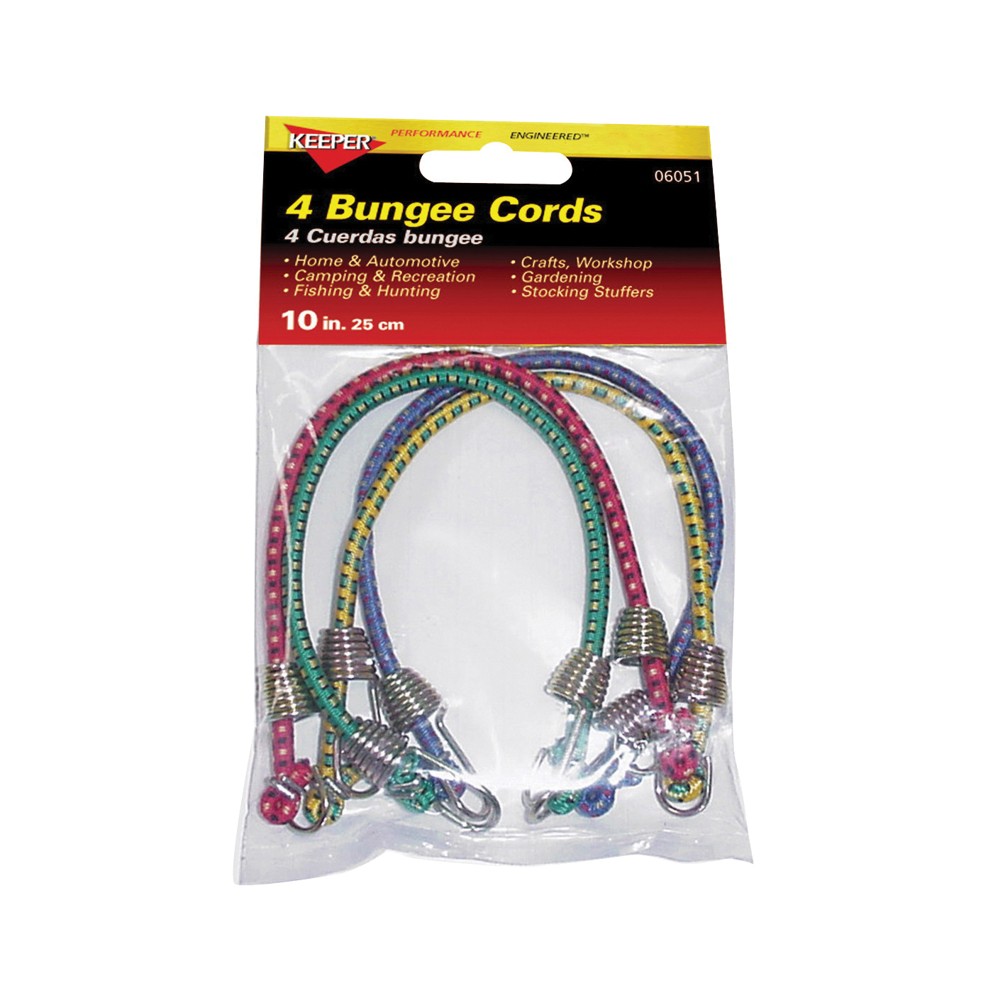 Picture of KEEPER 06051 Bungee Cord, 10 in L, Rubber, Hook End