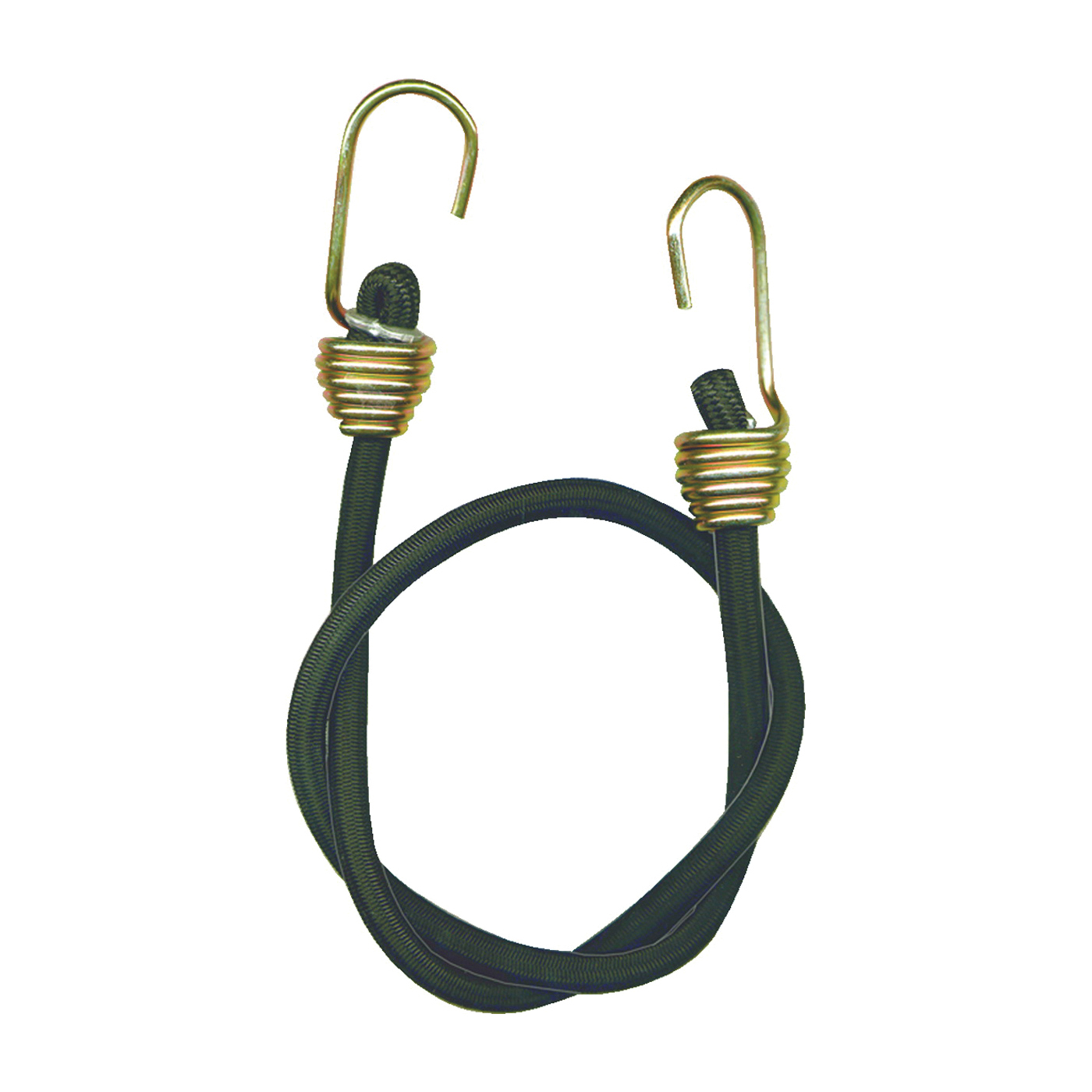 Picture of KEEPER 06180 Bungee Cord, 13/32 in Dia, 24 in L, Rubber, Black, Hook End