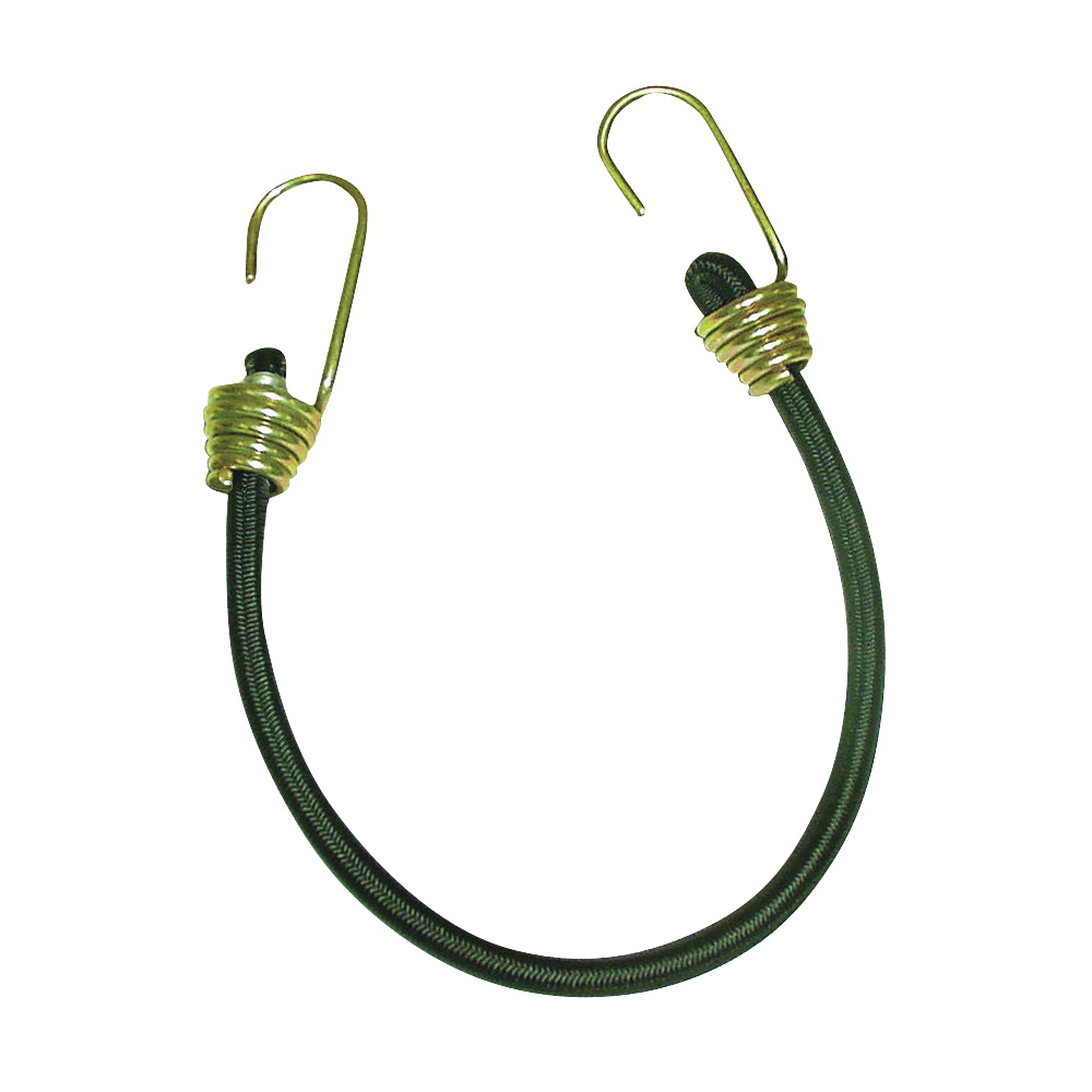 Picture of KEEPER 06192 Bungee Cord, 13/32 in Dia, 18 in L, Rubber, Hook End